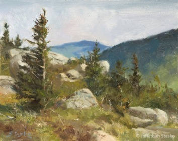 Bear Den Mountain, oil on panel, 8x10, SOLD