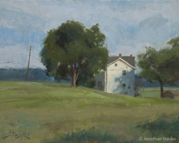 Black Horse Tavern Farm, oil on panel, 8x10, SOLD
