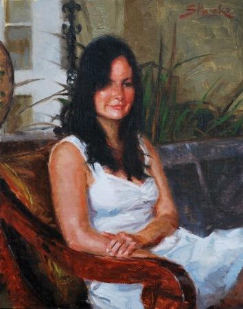 Emily, oil on linen, 14x11