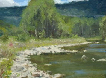 Fox Creek, oil on panel, 9x12