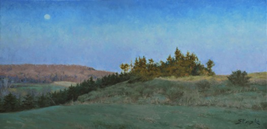 He's Alive: Easter Sunrise 2012, oil on linen, 24x48