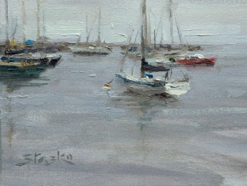 Monterey Bay, oil on linen, 6x8, SOLD