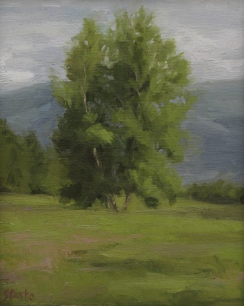 Mountain Meadow I, oil on linen, 10x8, SOLD