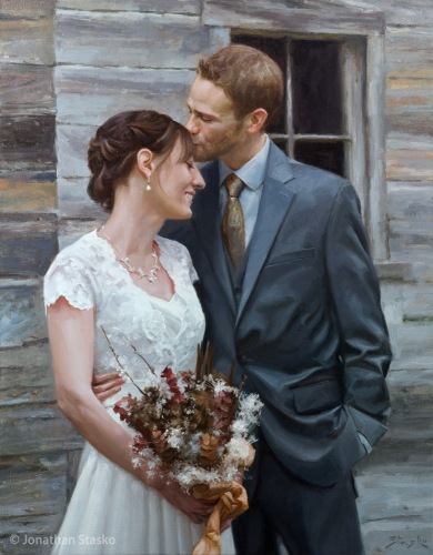 Mr and Mrs. Clague, oil on linen, 36x28 (image resource provided by