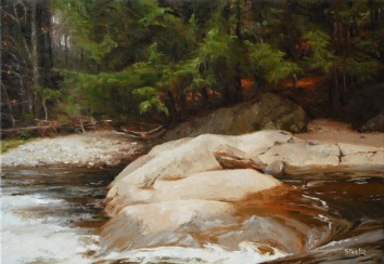 November On the Deerfield, oil on linen, 14x20, SOLD