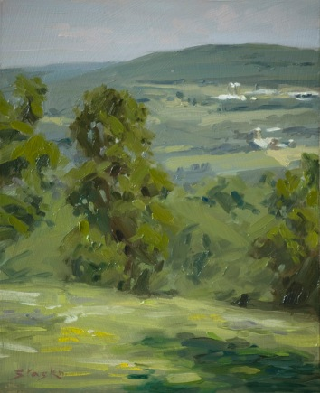 Oak Hill, oil on panel, 10x8, SOLD