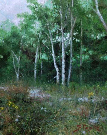 Quiet Grove, oil on linen, 28x22, SOLD