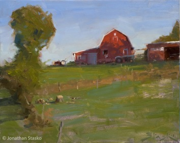 September Morning, oil on panel, 8x10, SOLD