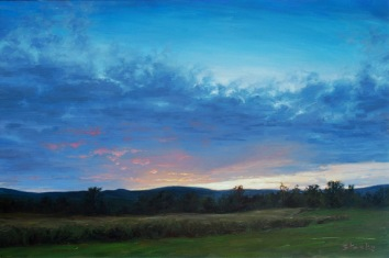 Sunset On Stratton, oil on linen, 24x36, SOLD