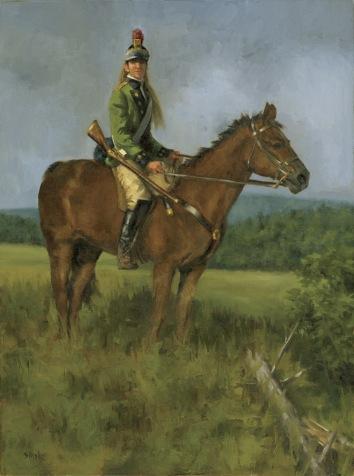 The Scout, oil on canvas, 20x16, SOLD