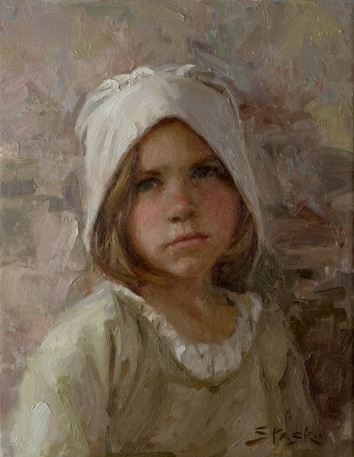 The Young VanAlstyne Girl, oil on linen, 14x11, SOLD