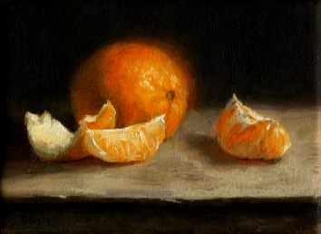 Orange, oil on linen, 5x7, SOLD