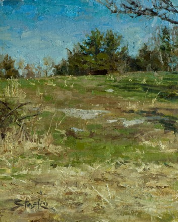 Early Spring, oil on linen, 10x8
