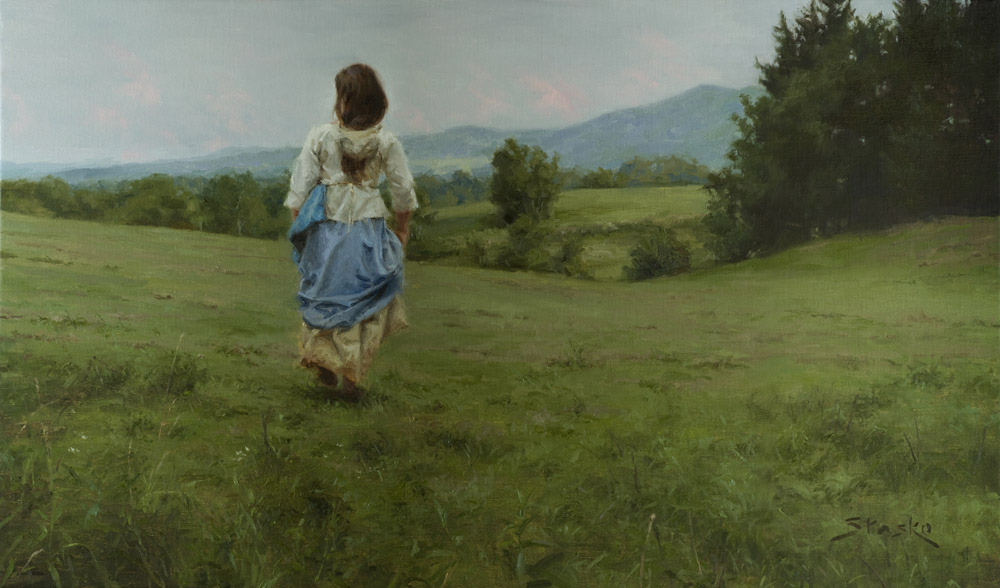 Waiting For the Rain, oil on linen, 24x40, SOLD