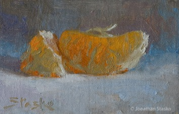 Oranges, oil on linen, 4x6, SOLD