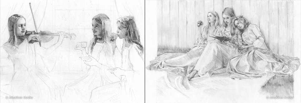Secret Garden Composition Studies